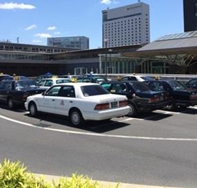 岡山駅からホテルまではタクシー移動