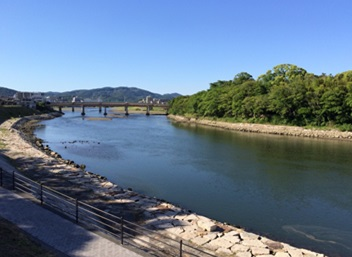 旭川を眺めながらのデリヘルプレイ